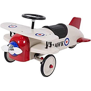 Best Choice Products Ride On Bi-Plane Metal Pedal Car Kids Outdoor Toy