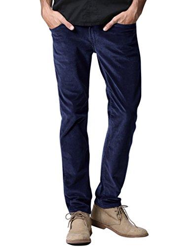 - Match Men's Slim-Tapered Flat-Front Casual Corduory Pants (32W x 31L, 8052 Bluish Purple)