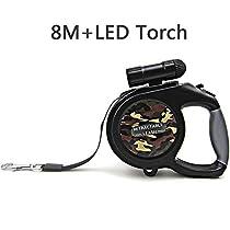 Retractable Dog Leash - 5M/26FT One Button Break & Lock Retractable Dog Leashes,with a LED Flashlight