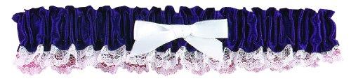 Hortense B. Hewitt 73033 Wedding Accessories Ribbon and Lace Garter, Grape