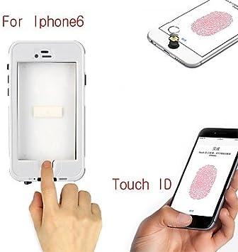 WQQ caja estanca w pantalla táctil con la función clave de huellas dactilares para el iphone 6 (color clasificado) , White: Amazon.es: Electrónica