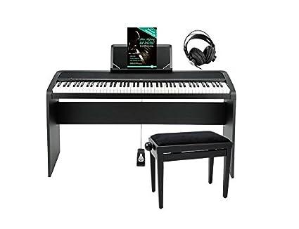 Korg B1 BK Piano digital negro Deluxe Set (con atril, sordina pedal Piano,
