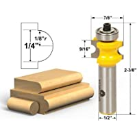 Yonico 13113 Bullnose Router Bit with 1/8-Inch - 1/4-Inch Bead 1/2-Inch Shank by Yonico