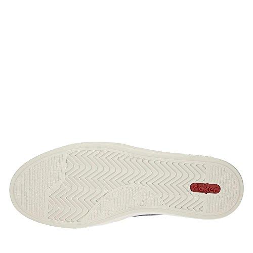Rieker Herren B4961 Slip On Sneaker navy/amaretto / 15