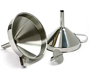 Funnel With Strainer 18/10 Stainless Steel