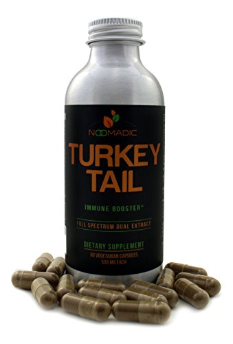 Noomadic Turkey Tail Mushroom (Coriolus) Capsules, Immune Booster, Dual Extract