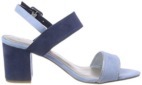 Marco Tozzi 28308, Sandalias de Talón Abierto Para Mujer Azul (Lt. Blue Comb)
