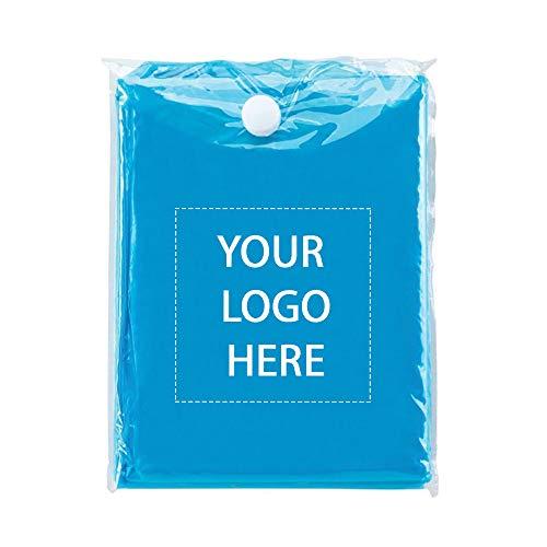 Promotional Rain Ponchos - Promo Direct Disposable Rain Poncho 250 Qty  2.16 Each  Customization Product Blue