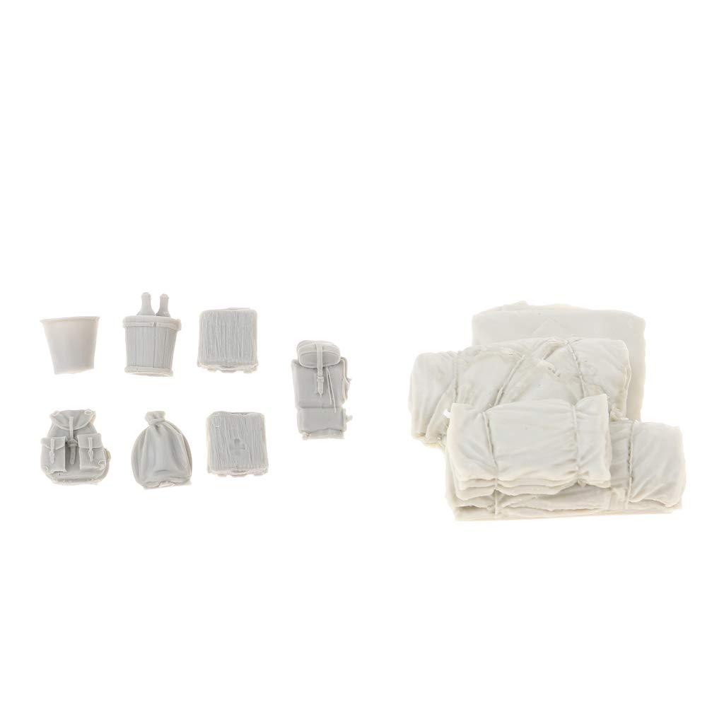 Sharplace 1/35 Resina Cajas / Bolsas Kit de Modelos para DIY Bricolaje - Pared de Sacos de Arena + Caja Set