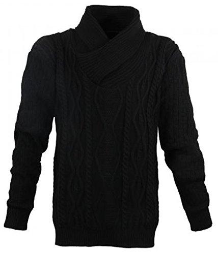 Modischer Strick Pullover Schwarz in Übergröße in den Größen 3XL - 7XL von Lavecchia (5XL)
