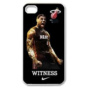 Miami Heat star LeBron James Iphone 4/4s Hard Cover Case