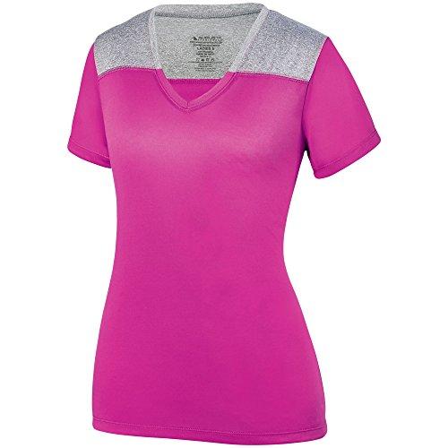 (Augusta Sportswear Women's Challenge T-Shirt M Power Pink/Graphite Heather)