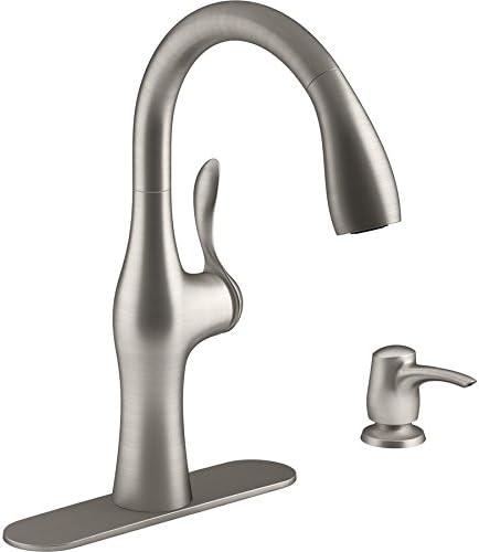 KOHLER Alma Vibrant Stainless 1-Handle Pull-Down Kitchen Faucet Model R45350-SD-VS