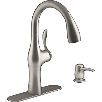 Amazon Com Kohler Alma Vibrant Stainless 1 Handle Pull