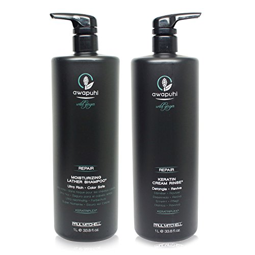 Paul Mitchell Awapuhi Wild Ginger Shampoo & Cream Rinse Duo (33.8 oz) by Paul Mitchell
