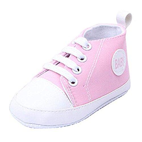 Casual Baby Sneakers,Dealzip Inc Pink Newborn Baby Boy Girl Soft Crib Canvas Sneaker Shoes 0-6 Months (Newborn Infant Jordan Shoes)