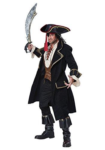 California Costumes Men's Deluxe Pirate Captain, Multi, X-Large - Mens Sailor Halloween Costumes