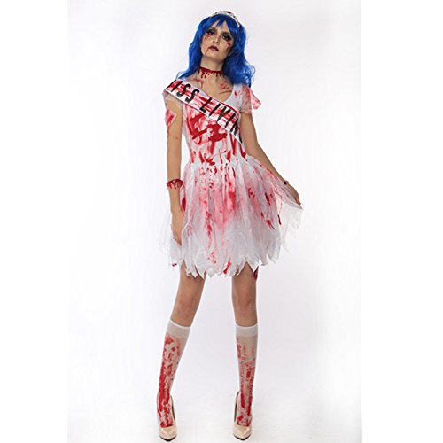 VT BigHome White Vampire Zombie Cosplay Ghost Bride Costumes Witch Princess Dress Sexy Halloween Costumes Women Nurse Costumes