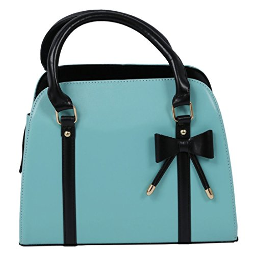 fashion leather SODIAL pu R Women handbags shoulder messenger Bags bag cyan handbag rq0fRq