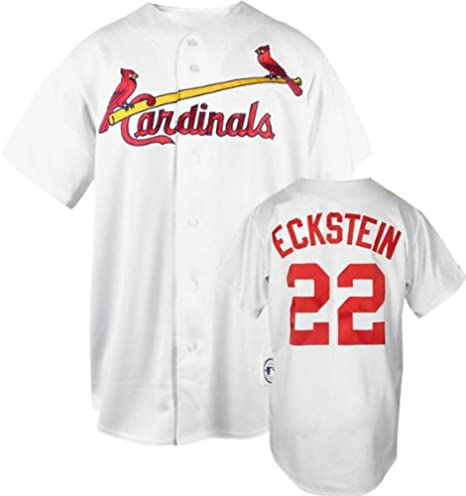 98406e093388 David Eckstein White Majestic MLB Home Replica St. Louis Cardinals Jersey -  Medium