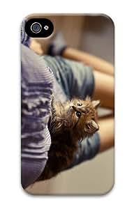 thinnest case fluffy kitten PC Case for iphone 4/4S