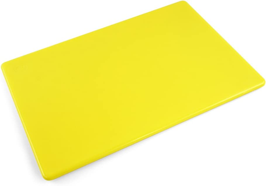 Commercial Grade Plastic Yellow Cutting Board NSF 18 x 12 x 0.5 inch, Chicken and Poultry Color