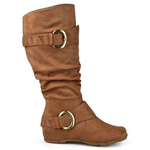 NwEqdZdyJb Regular and Sizes Boot Knee High Wide Suede Slouch Buckle In Womens Brinley Camel Calf daqz48wnd