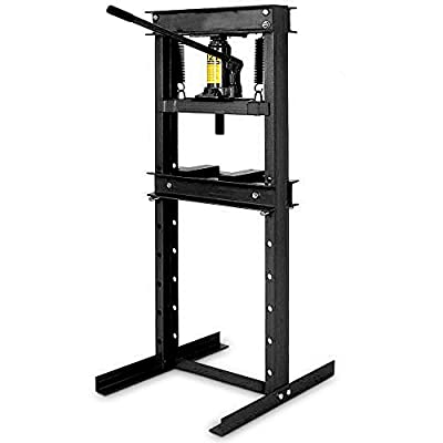 """Wimmer 12 Ton Shop Press Floor H-Frame Press Plates Hydraulic Equipment Jack Stand 28"""""""