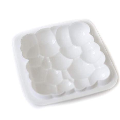 gasa marca Wanbor 1 pcs 3D burbujas cielo nube molde de pastel de silicona color blanco