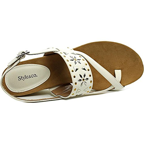 Style & Co. Jazzmin - Sandalias de vestir de Lona para mujer Dark natural Optic White