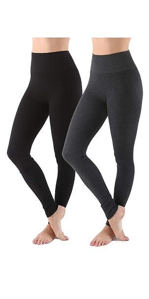 Amazon.com: AEKO Leggings para mujer de mezcla de algodón ...