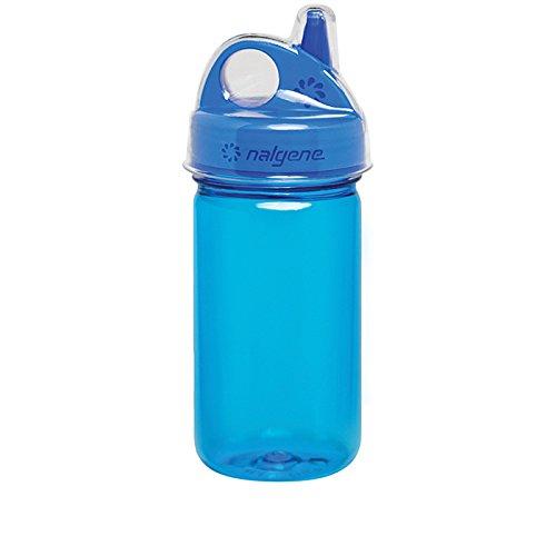Nalgene Grip N-gulp - Nalgene Grip-N-Gulp Bottle with Cover, Blue, 12 oz