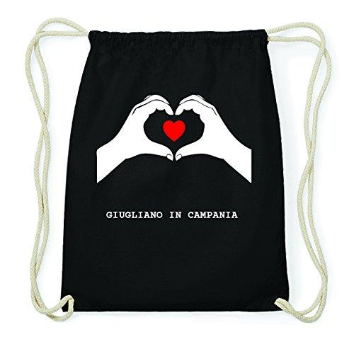 JOllify GIUGLIANO IN CAMPANIA Hipster Turnbeutel Tasche Rucksack aus Baumwolle - Farbe: schwarz Design: Hände Herz BvMxI9