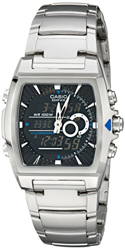 Casio Men's EFA120D-1AV Ana-Digi Edifice Thermometer Bracelet Watch Analog Stainless Steel Bracelet