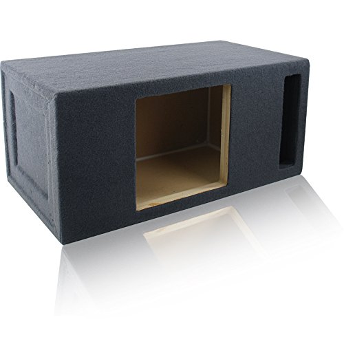 2.0 Cu. Ft. Ported/Vented MDF Sub Woofer Enclosure for Single Kicker L712 L7, L7S12 Solo-Baric L7S, L7R12 L7R 12″ Square Car Subwoofer (2.0 ft^3 @ 32Hz) Made in U.S.A.