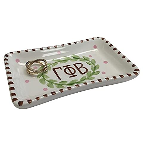 Gamma Phi Beta Sorority Trinket Tray Ring Dish Made of Ceramic Material Letters gamma phi