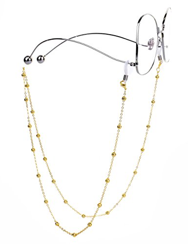 Ladies Gold Chains (Mini Tree Necklace Eyeglass Chain Beaded Sunglasses Strap and Cords for Women (gold))