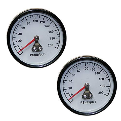 Dewalt/Porter Cable Air Compressor Replacement (2 Pack) 200PSI Gauge .125 NPT # Z-D27212-2pk
