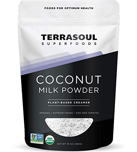 Terrasoul Superfoods Organic Coconut Milk Powder, 16 Oz - Plant-Based Creamer | Keto Friendly