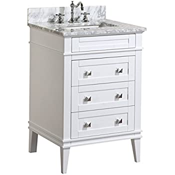 24 vanity cabinet with sink. Kitchen Bath Collection KBC L24WTCARR Eleanor Bathroom Vanity with Marble  Countertop Cabinet Soft 24 All Mirror Petite Sink Ashlie Model HF006