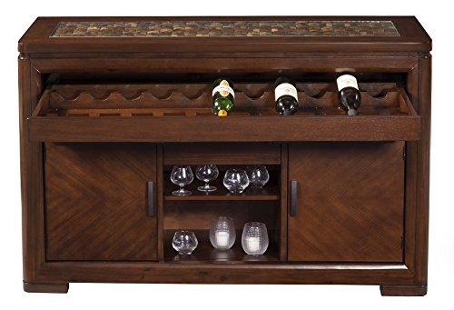 (Alpine Furniture 1437-06 Granada Server, Brown Merlot )