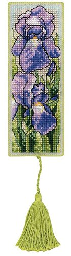 Royal Paris Iris Bookmark Cross Stitch Kit - Royal Paris Needlepoint