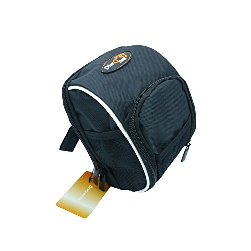 Disconano Cycling Bike Bicycle Handlebar Bags Front Baskets Black with Rain Cover