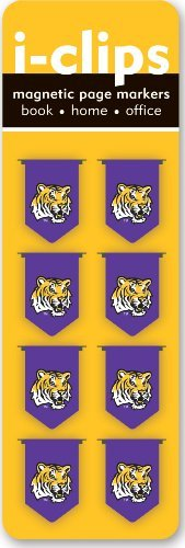 Read Online By Peter Pauper Press Louisiana State University i-Clips Magnetic Page Markers (Set of 8 Magnetic Bookmarks, LSU Fighting [Hardcover] ebook