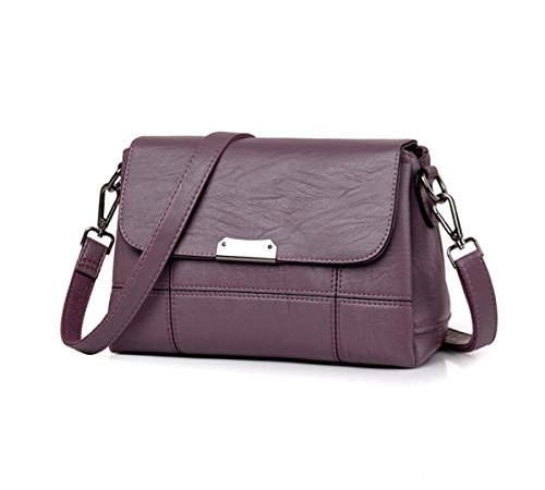 backpack bag Bags Crossbody Shoulder Ms 2 inch Purple 9 1 4 PU Light 7 8 LXopr wqfT44