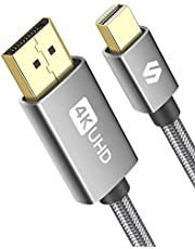 Mini DisplayPort to DisplayPort Cable 6.6ft, Silkland [4K@60Hz, 2K@165Hz, 2K@144Hz] Mini DP to DP Cable,Thunderbolt 2 to DisplayPort Cable Compatible with MacBook Air/Pro, Surface Pro/Dock and More