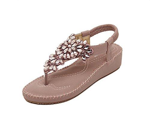 0c6fc1f947b Diamantes de imitación de las sandalias de las mujeres del dedo del pie  abierto de las