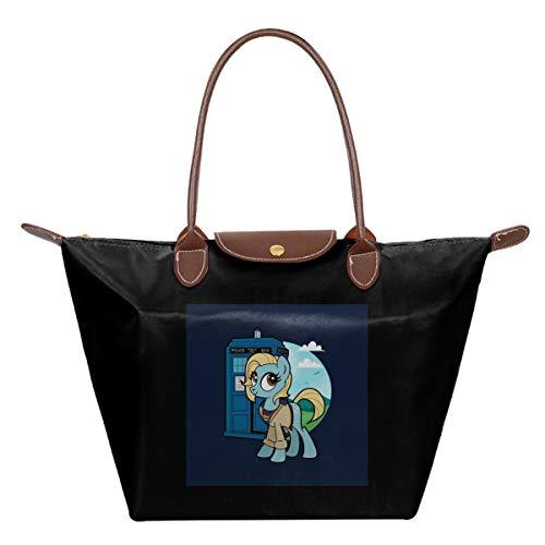 My Little Pony Doctor Who Waterproof Leather Folded Messenger Nylon Bag Travel Tote Hopping Folding School Handbags