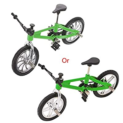 Fmingdou Finger Alloy Bicycle Model Mini MTB BMX Fixie Bike Boys Toy Creative Game Gift (green2): Toys & Games