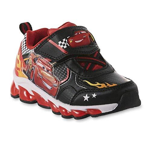 Disney Toddler Boys' Lightning McQueen Sneaker, Light-Up (6 M US Toddler)